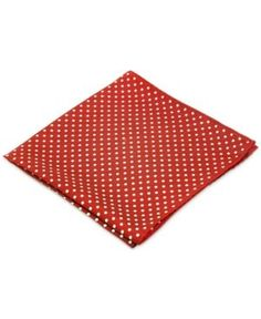 Ryan Seacrest Distinction Style Dot Pocket Square - Red