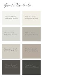 Go to Neutral Paint Colors |