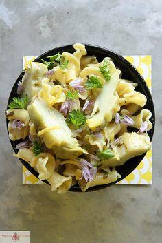 Artichoke Pasta with Butter, Lemon & Garlic (use #glutenfree brown rice pasta) | #vegetarian