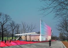 "A group of five Russian architecture studios are set to design a Nike sports facility in Gorky Park, Moscow.  Nike's goal with the landmark complex is to create a ""unique architectural object"" that seamless integrates into the surrounding park environment, creating a landmark hub for sport and physical activity for Russia.  They envision an environmentally-friendly structures were diverse groups of athletes could meet and interact. Core project principles included functionality…"