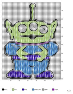 LITTLE GREEN MEN (1 OF 3 SQUEEZE TOY ALIENS) OF TOY STORY -- WALL HANGING
