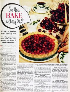 Can you bake a cherry pie? 1956.