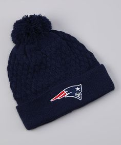 Take a look at this Navy New England Patriots Pom-Pom Beanie by NFL on 9b192bb334e2