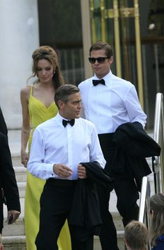 Brad Pitt and Angelina Jolie joined by George Clooney in Venice