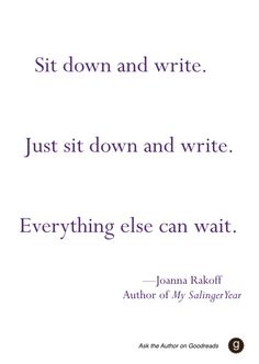 Advice to aspiring writers, from author Joanna Rakoff #AskTheAuthor #writing