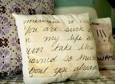 DIY Love pillows