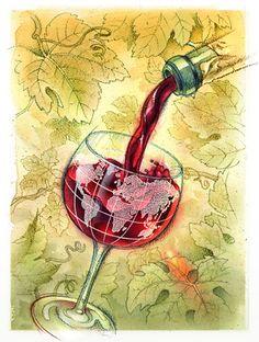 """""""El vino moderado es salud para el cuerpo y alegría para el alma"""".Haz sonreír a tu alma, sonríele a la noche"""