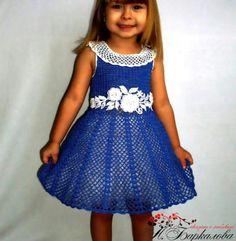 Vestido azul. ..
