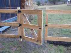 """Plank & Wire Fence - Treated 4x4 post, 2""""x4""""openings x 48"""