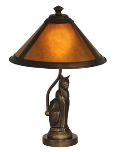 Dale Tiffany Ginger Mica Cat Accent Lamp