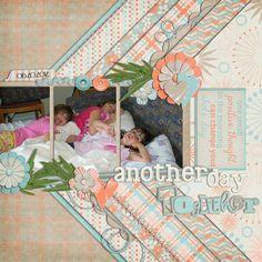 Digital Scrapbook Layout by Judy | Start Fresh Kit | Bella Gypsy Designs.