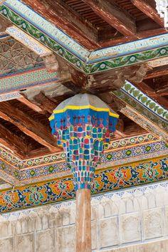 Column detail, Bolo-Hauz Mosque, Bukhara