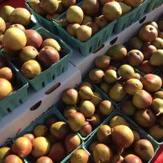 Pears in a market