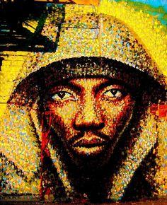 New York street art New York Street Art, Street Art News, 3d Street Art, Amazing Street Art, New York Art, Street Artists, Amazing Art, Graffiti Artists, African American Art