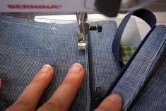 Grainline | Inserting a Fly Front Zipper