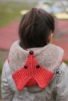 Sly Fox Hood knitting pattern by Ekaterina Blanchard on Ravelry. Sizes baby - adult.