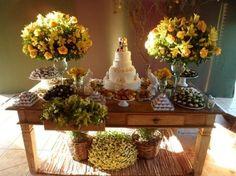 Mesa de doce: delícias de ideias Chic Wedding, Luxury Wedding, Wedding Table, Rustic Wedding, Cake Table, Dessert Table, Anniversary Plans, Wedding Decorations, Table Decorations