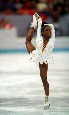 Photos of Famous People in Figure Skating: Surya Bonaly - Olympic French Figure Skater Famous African Americans, Dancers Body, Ice Dance, Ice Skating Dresses, Ice Skaters, Olympic Sports, Winter Olympics, Figure Skating, Black History