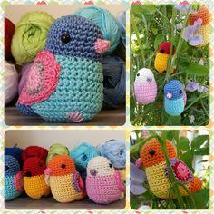 Red Haired Amazona: Stevie The Amigurumi Bird - free crochet pattern.