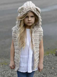 Ravelry: Lanstyn Lion Hooded Vest pattern by Heidi May