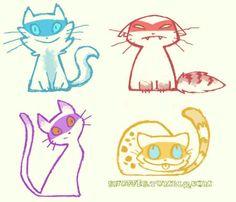Ninja kitties! So cute!