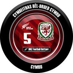 DNZ Football Buttons: Seleção do País de Gales
