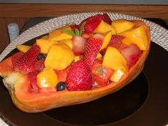 Fruit Papaya Boat Salad