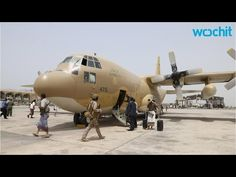 Saudi military plane brings aid to Yemen's Aden - YouTube