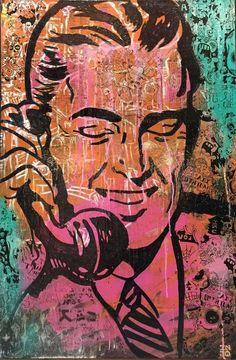 INDO Street Artist  Prank Call  Original Mixed Media on Canvas 91cm x 61cm