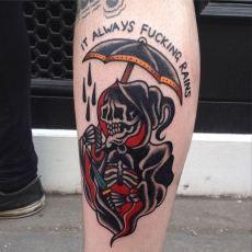 Grim Reaper Tattoo by Luke Jinks.
