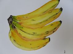 watercolor bananas