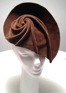 Swirly hand manipulated felt #millinery #judithm #blocking