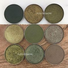 OLIVE GREENS They look so gorgeous together!  @makeupgeekcosmetics @marlenastell . Direct link in my BIO to shop them all!  Take two Venom Dirty Martini Havoc and Jester are my favorites! 1/ Enchanted forest Take two Venom 2/ Ritzy (duochrome) Dirty martini  Havoc (duochrome) 2/ Jester Typhoon (duochrome - discontinued ) High tea . . Available here (affiliate link): http://bit.ly/2Eg6L9d or DIRECT LINK in BIO. . More Makeup geek COMBINATIONS in my feed and tons of other SWATCHES and DUPES…
