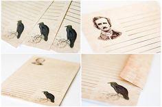 Edgar Allan Poe  A5 Letter Set by LaPapierre on Etsy, $8.00