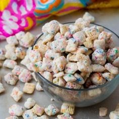 Cupcake Puppy Chow - special recipe with no cake mix required. Ready in 15 mins!