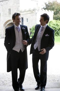 We're definitely thinking a frock or other longer cut coat for him and shorter coats for the groomsmen.