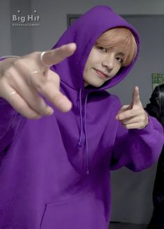 """peach taehyung in purple is what i never knew i needed"""
