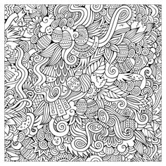 Adult Easter Colouring-In Coloring Pages For Grown Ups, Easter Coloring Pages, Coloring Pages To Print, Coloring Book Pages, Printable Coloring Pages, Coloring Pages For Kids, Coloring Sheets, Drawing Sheet, Doodles