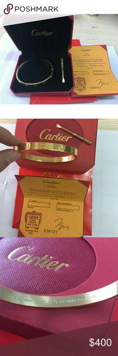 Cartier Love Bracelet Size19 Color:gold SIze:19 Jewelry Bracelets