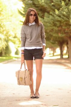 loving shorts and sweaters!