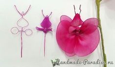 Орхидея Фаленопсис из капрона. Мастер-класс (6)