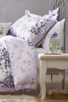 Buy Cotton Sateen Watercolour Floral Mauve Bed Set from the Next UK online shop