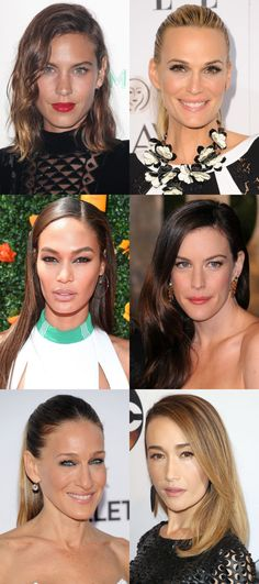 Celebrity examples of the long face shape. http://beautyeditor.ca/2016/08/31/how-to-figure-out-your-face-shape