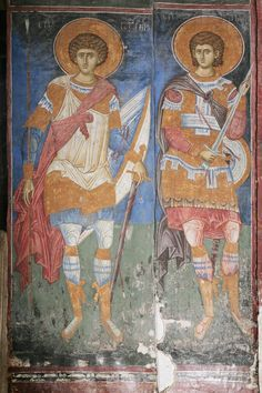View album on Yandex. Byzantine Army, Kirchen, Views Album, Fresco, Saints, Painting, Yandex, Icons, Serbian