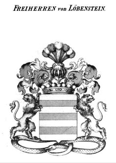 Familienwappen der Freiherren von Löbenstein  Coat of Arms of The Freiherren von Löbenstein
