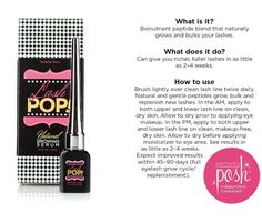 "DayzPage: Preview ""My Lash Pop Results *UPDATE Day 4 Lash Pop Natural Growth Syrum with Perfectly Posh"""