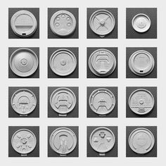 Take Out Beverage Lids    Collected in the 1990's. and early 00's
