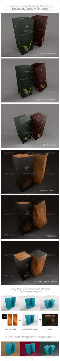 Premium Box Package MockUps #3d #logo  • Download here → https://graphicriver.net/item/premium-box-package-mockups/4732413?ref=pxcr