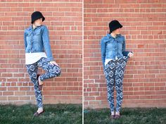 Draft and Sew Leggings   One Little Minute Blog Stretchy Pants Drafting and Sewing Leggings // Stretch Yourself