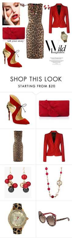 """""""wild imagination story"""" by agnesmakoni ❤ liked on Polyvore featuring Christian Louboutin, L.K.Bennett, Altuzarra, Dolce&Gabbana, Chico's, Chanel, Betsey Johnson and Tim Holtz"""